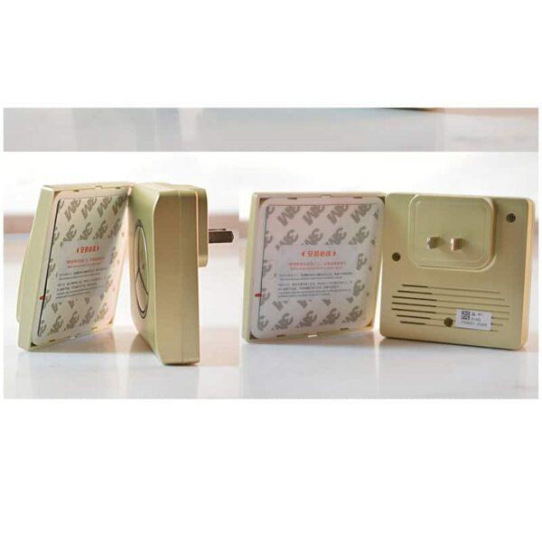 40843 - Водонепроницаемый беспроводной дверной звонок LinBell G1 (золото): без батареек, 25 мелодий, 3 уровня громкости, 80 м, IPx7