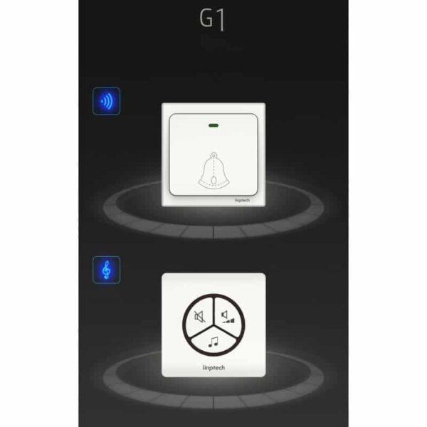 40848 - Водонепроницаемый беспроводной дверной звонок LinBell G1 (золото): без батареек, 25 мелодий, 3 уровня громкости, 80 м, IPx7