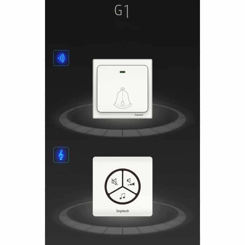 Водонепроницаемый беспроводной дверной звонок LinBell G1 (золото): без батареек, 25 мелодий, 3 уровня громкости, 80 м, IPx7 216230