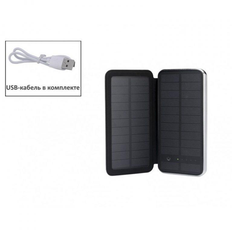 408 - Внешний аккумулятор RIPA C-G736 с солнечной панелью – 5В 3Вт, 10000 мАч, 2x USB