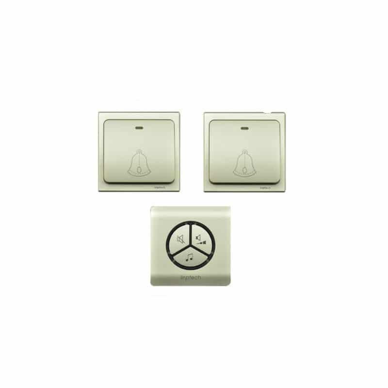 Водонепроницаемый беспроводной дверной звонок LinBell G1 (золото): без батареек, 25 мелодий, 3 уровня громкости, 80 м, IPx7 216231