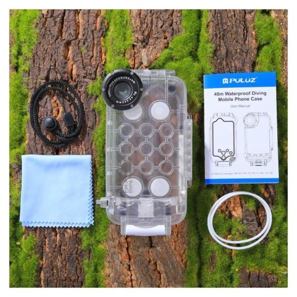 40945 - Водонепроницаемый ударопрочный кейс PULUZ для iPhone 8 и 7: до 40 м погружение, 360° защита