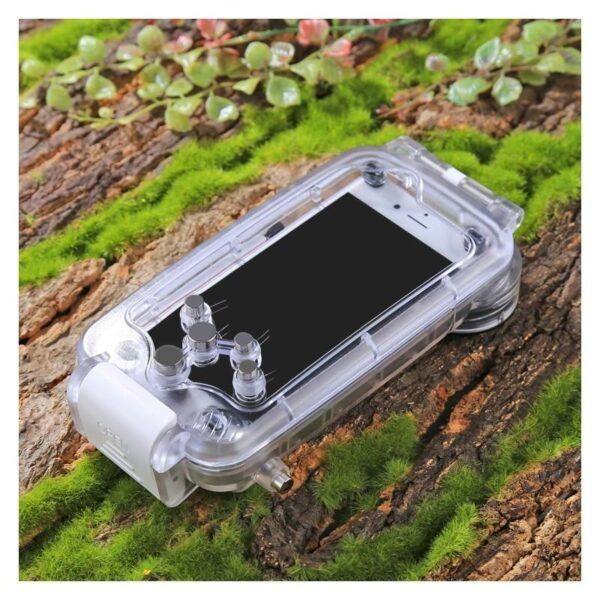 40946 - Водонепроницаемый ударопрочный кейс PULUZ для iPhone 8 и 7: до 40 м погружение, 360° защита