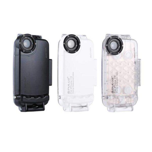 40949 - Водонепроницаемый ударопрочный кейс PULUZ для iPhone 8 и 7: до 40 м погружение, 360° защита