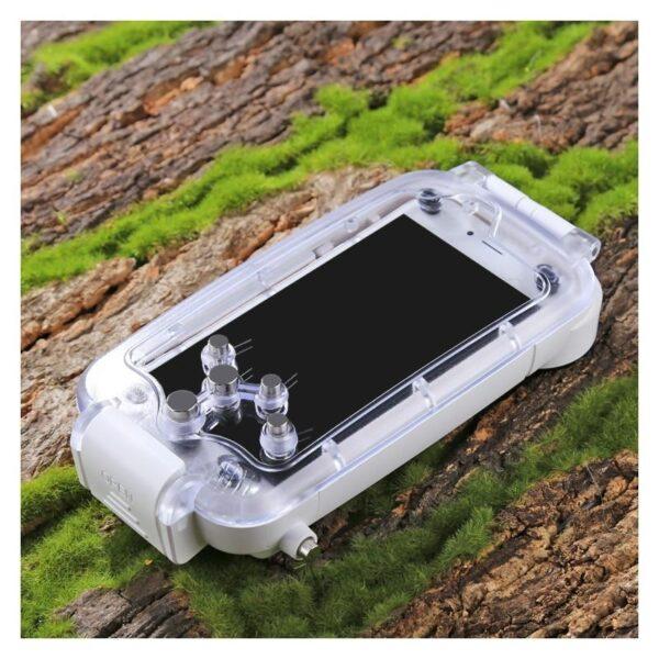 40965 - Водонепроницаемый ударопрочный кейс PULUZ для iPhone 8 и 7: до 40 м погружение, 360° защита