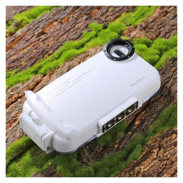 40966 - Водонепроницаемый ударопрочный кейс PULUZ для iPhone 8 и 7: до 40 м погружение, 360° защита