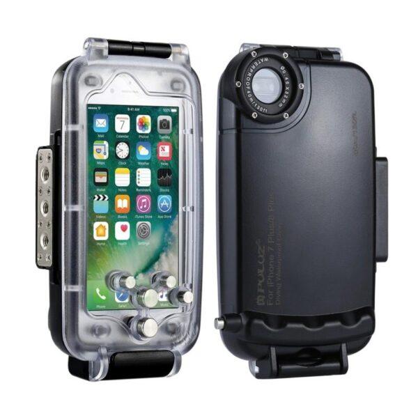 40989 - Водонепроницаемый ударопрочный кейс PULUZ для iPhone 8 Plus/ 7 Plus: до 40 м погружение, 360° защита, 3 цвета