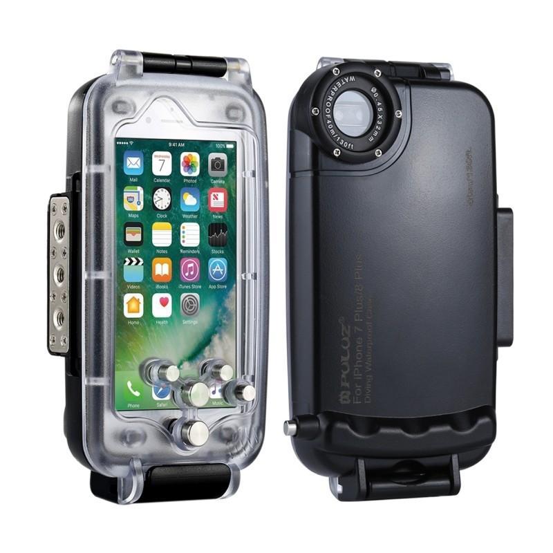 Водонепроницаемый ударопрочный кейс PULUZ для iPhone 8 Plus/ 7 Plus: до 40 м погружение, 360° защита, 3 цвета 216343