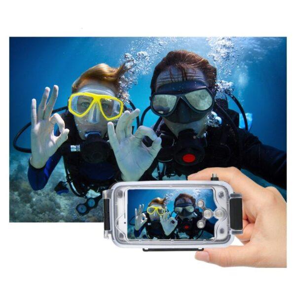 40994 - Водонепроницаемый ударопрочный кейс PULUZ для iPhone 8 Plus/ 7 Plus: до 40 м погружение, 360° защита, 3 цвета