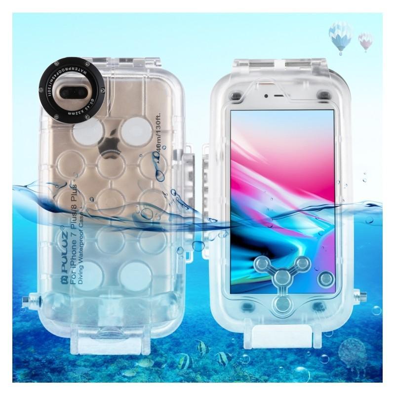 40995 - Водонепроницаемый ударопрочный кейс PULUZ для iPhone 8 Plus/ 7 Plus: до 40 м погружение, 360° защита, 3 цвета