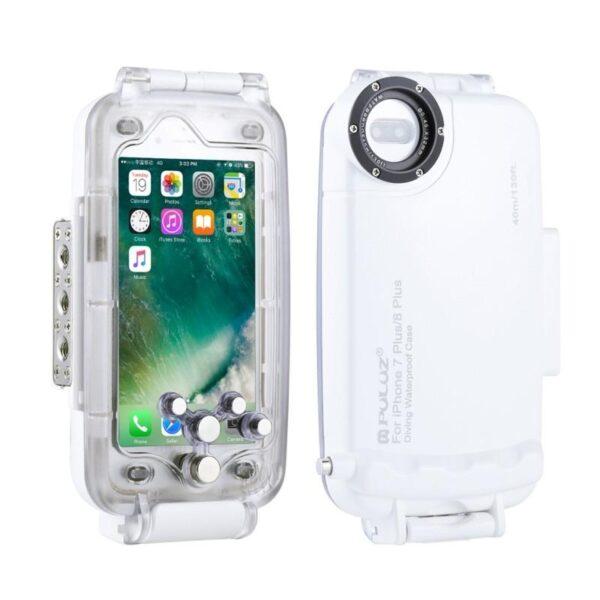 40999 - Водонепроницаемый ударопрочный кейс PULUZ для iPhone 8 Plus/ 7 Plus: до 40 м погружение, 360° защита, 3 цвета