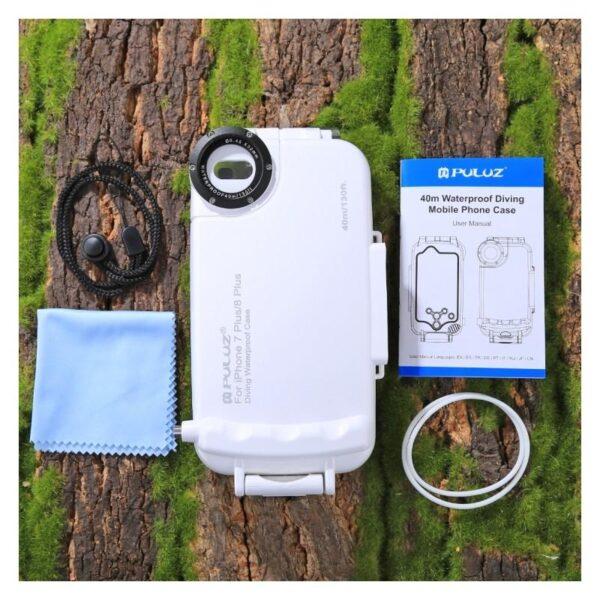 41005 - Водонепроницаемый ударопрочный кейс PULUZ для iPhone 8 Plus/ 7 Plus: до 40 м погружение, 360° защита, 3 цвета