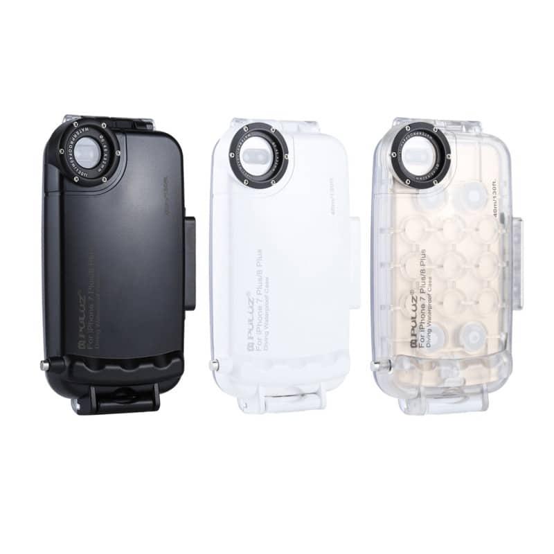 Водонепроницаемый ударопрочный кейс PULUZ для iPhone 8 Plus/ 7 Plus: до 40 м погружение, 360° защита, 3 цвета 216361