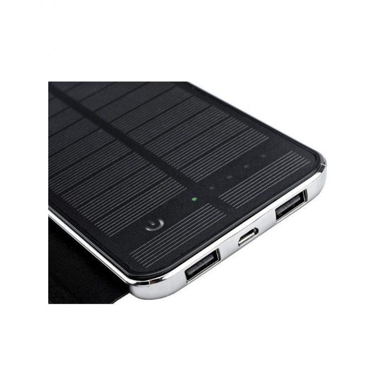 410 - Внешний аккумулятор RIPA C-G736 с солнечной панелью – 5В 3Вт, 10000 мАч, 2x USB