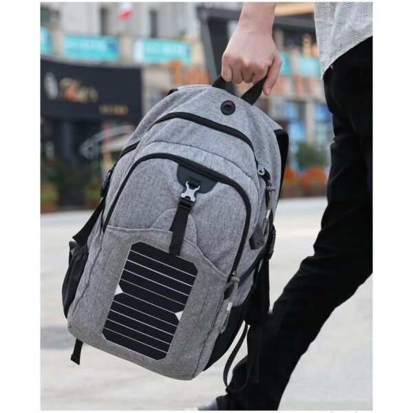 41074 - USB-рюкзак с солнечной зарядкой Van Ryan: встроенный USB, отделение для ноутбука 15,6 дюймов, отверстие для наушников, очков