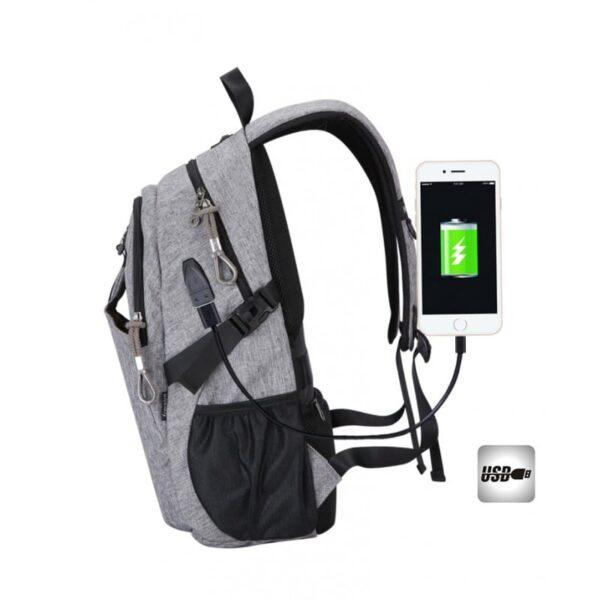 41081 - USB-рюкзак с солнечной зарядкой Van Ryan: встроенный USB, отделение для ноутбука 15,6 дюймов, отверстие для наушников, очков