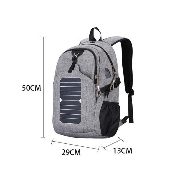 41083 - USB-рюкзак с солнечной зарядкой Van Ryan: встроенный USB, отделение для ноутбука 15,6 дюймов, отверстие для наушников, очков