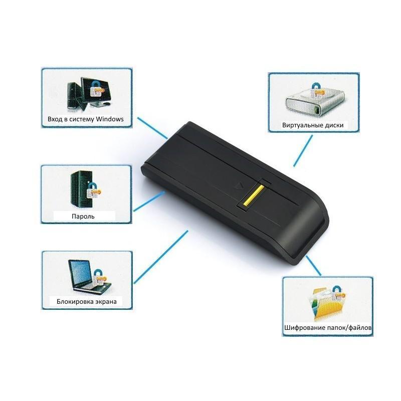 Биометрический считыватель отпечатков пальцев USB 2.0 для блокировки несанкционированного доступа к ПК 186460