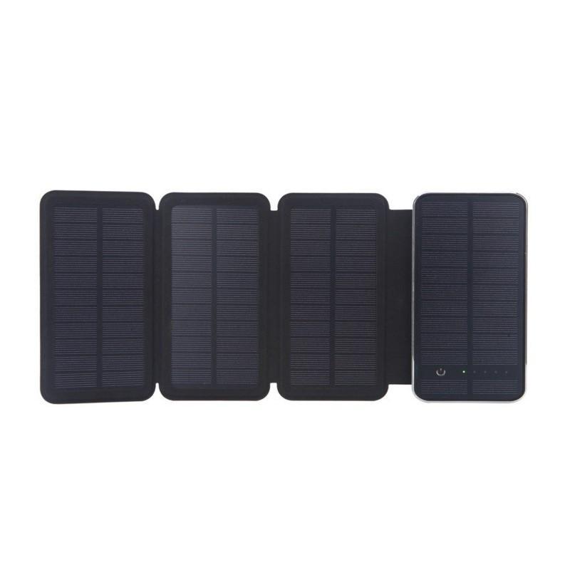 Внешний аккумулятор RIPA 10000 мАч  с солнечной панелью 6Вт, 2x USB для зарядки смартфонов и планшетов