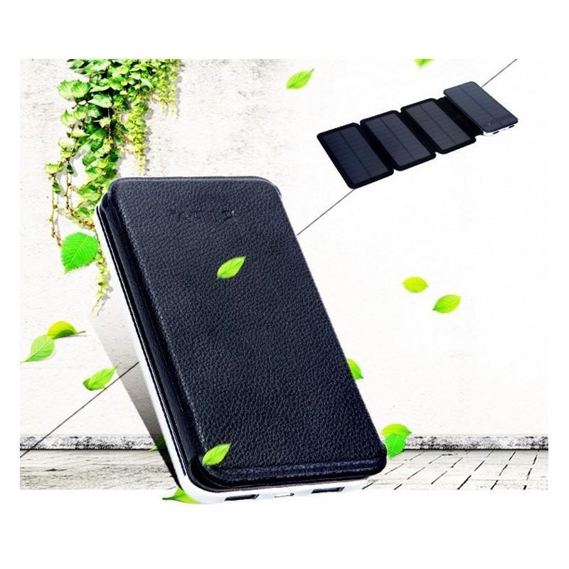 Внешний аккумулятор RIPA 10000 мАч  с солнечной панелью 6Вт, 2x USB для зарядки смартфонов и планшетов 183560