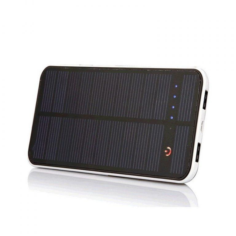 422 - Внешний аккумулятор RIPA 10000 мАч с солнечной панелью 1,5 Вт, 2x USB для зарядки смартфонов и планшетов