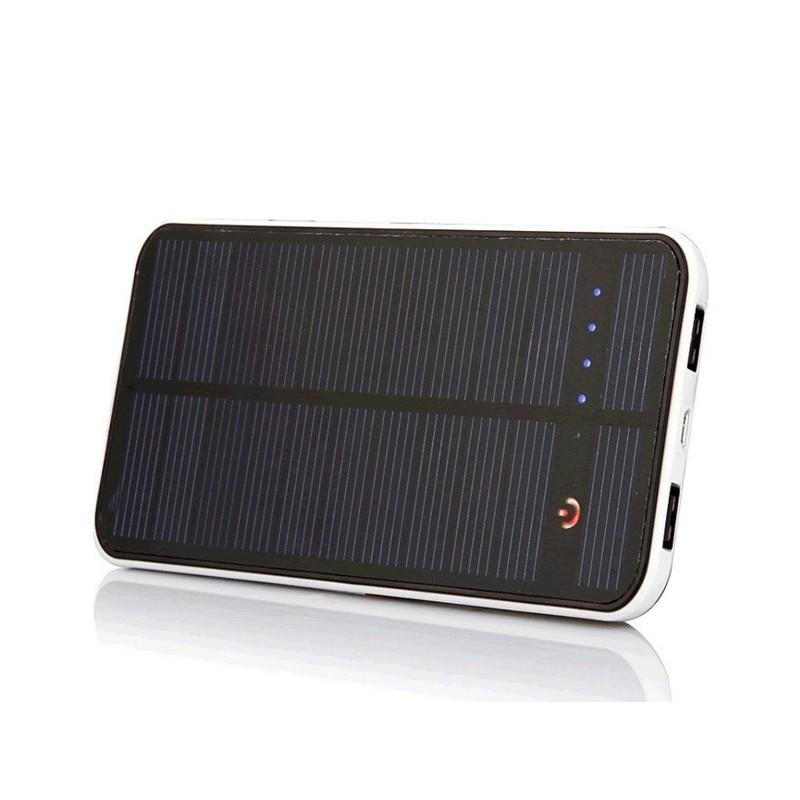 Внешний аккумулятор RIPA 10000 мАч  с солнечной панелью 1,5 Вт, 2x USB для зарядки смартфонов и планшетов 183563