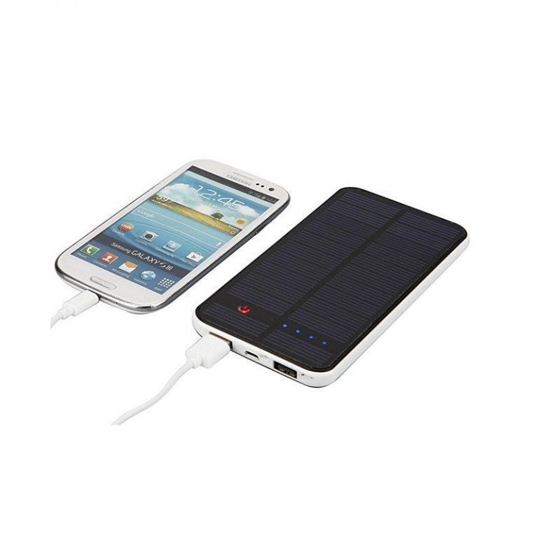 426 - Внешний аккумулятор RIPA 10000 мАч с солнечной панелью 1,5 Вт, 2x USB для зарядки смартфонов и планшетов