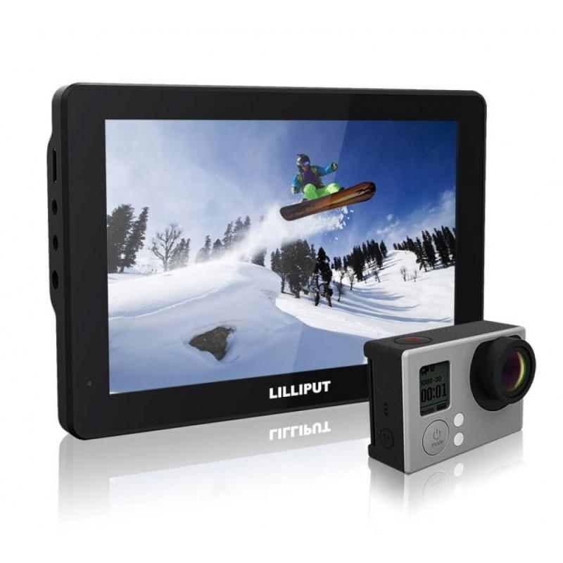 Накамерный монитор Lilliput MoPro 7 для GoPro Hero 3+ / 4 и DSLR-камер – HDMI, 7 дюймов, 1280х800, динамик, выход для наушников