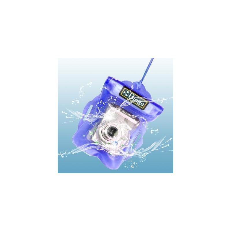 Водонепроницаемый чехол Bingo для цифровой камеры (до 125 x 115 мм, с объективом длиной до 26 мм и диаметром до 55 мм, синий) 186500