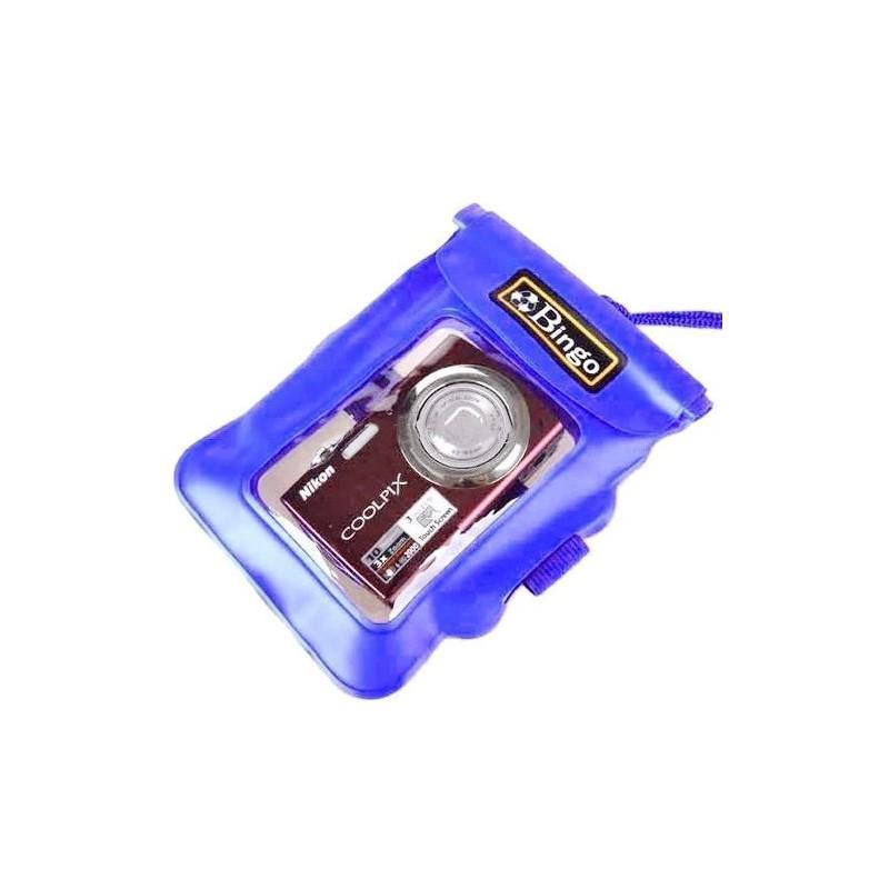 Водонепроницаемый чехол Bingo для цифровой камеры (до 125 x 115 мм, с объективом длиной до 26 мм и диаметром до 55 мм, синий) 186501