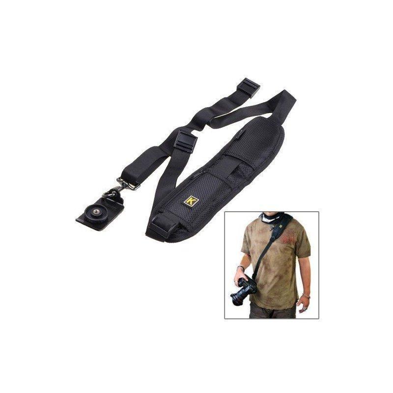 Плечевой ремень для камеры или фотоаппарата (на одно плечо, черный)