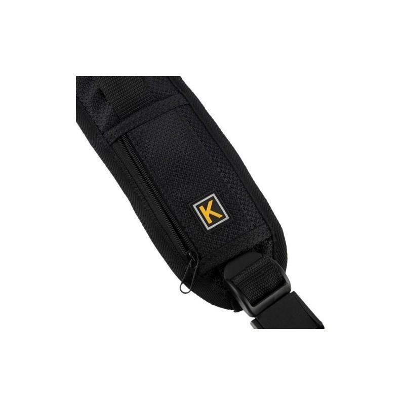 Плечевой ремень для камеры или фотоаппарата (на одно плечо, черный) 186506