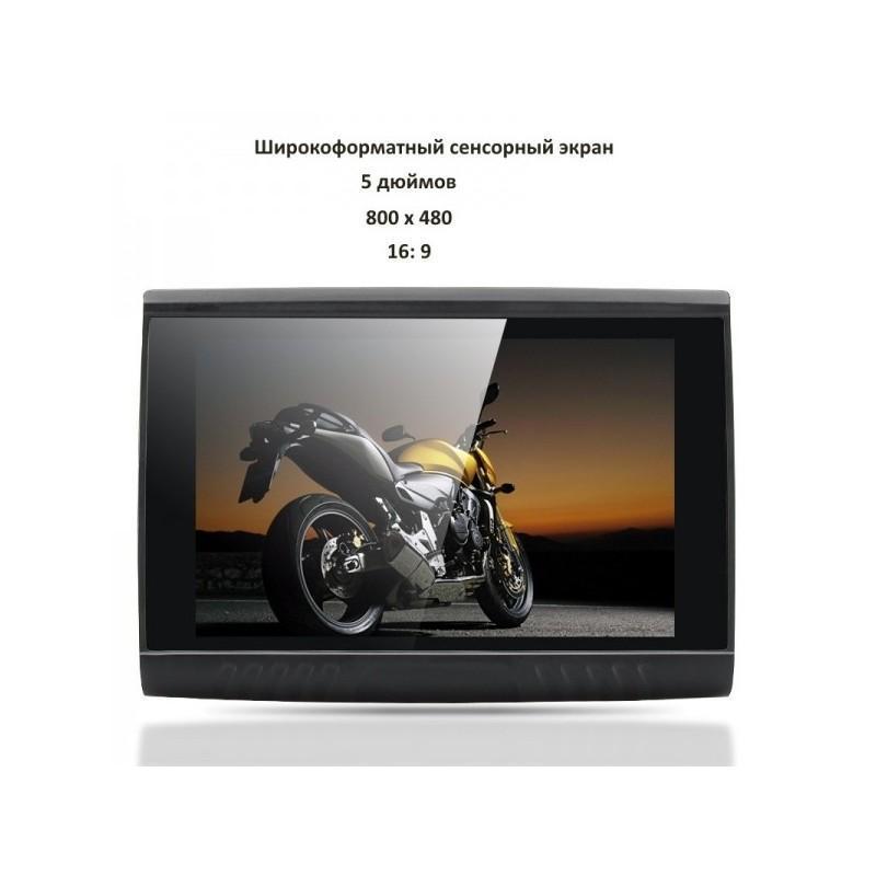 5-дюймовый GPS-навигатор для мотоцикла с широкоформатным экраном – водонепроницаемость IPX5, Bluetooth, 8 Гб 186510