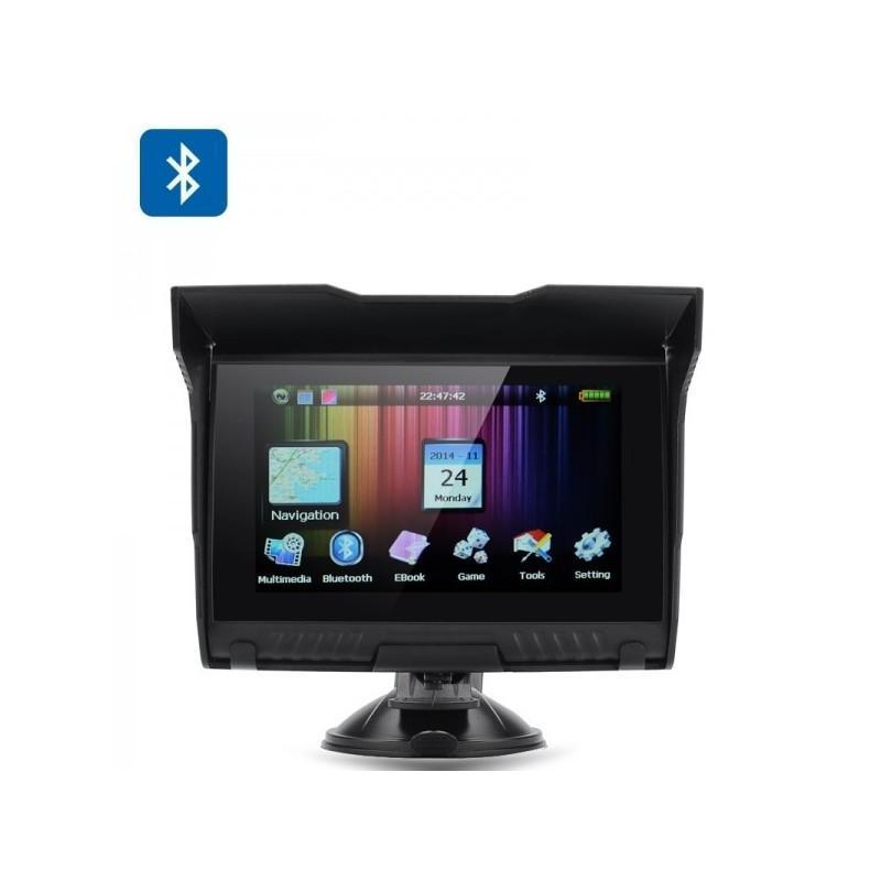 5-дюймовый GPS-навигатор для мотоцикла с широкоформатным экраном – водонепроницаемость IPX5, Bluetooth, 8 Гб 186514