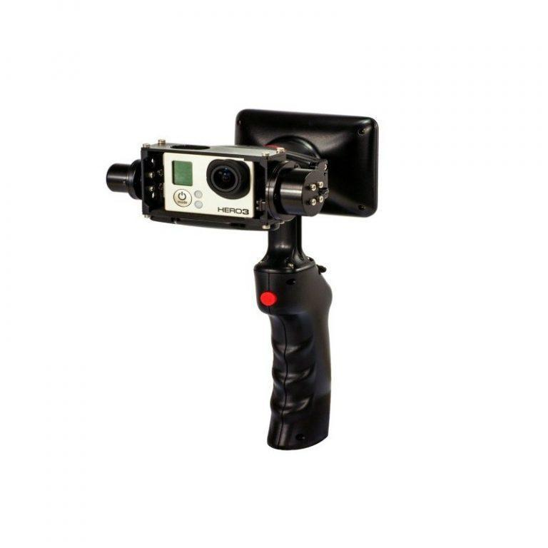 434 - Стабилизатор-стедикам Wenpod GP1 с экраном 3,5 дюйма для камеры GoPro Hero 3, 3+, 4