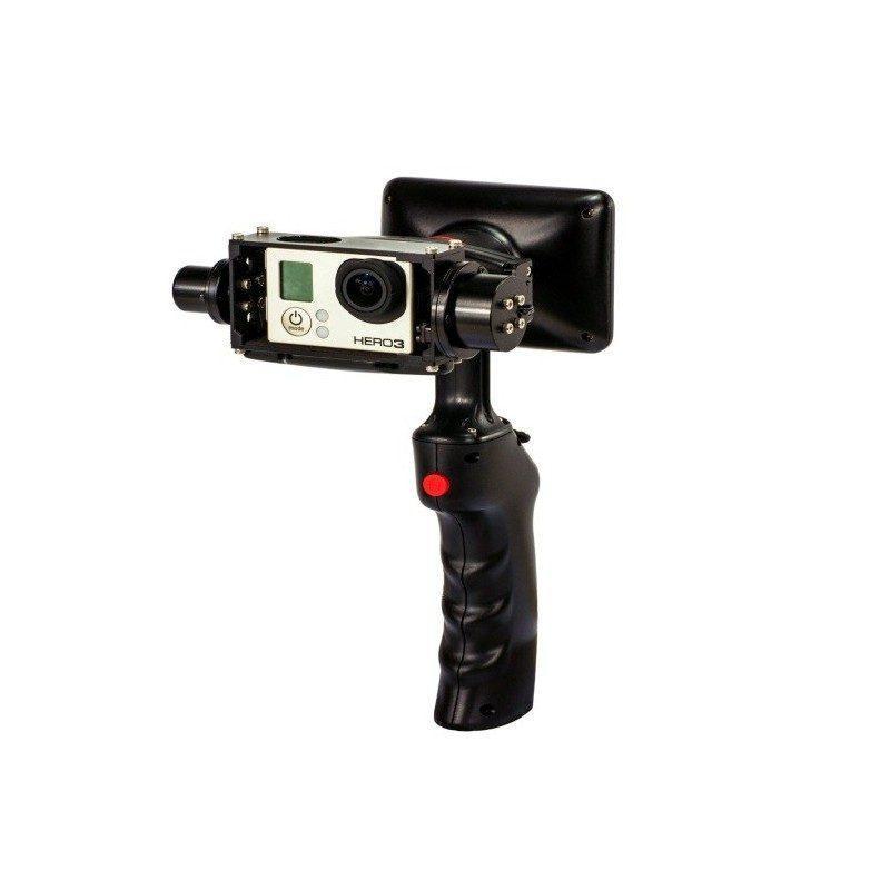 Стабилизатор-стедикам Wenpod GP1 с экраном 3,5 дюйма для камеры GoPro Hero 3, 3+, 4