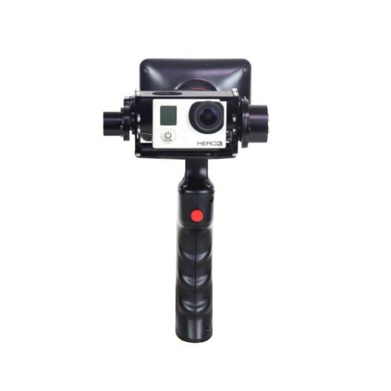 435 - Стабилизатор-стедикам Wenpod GP1 с экраном 3,5 дюйма для камеры GoPro Hero 3, 3+, 4