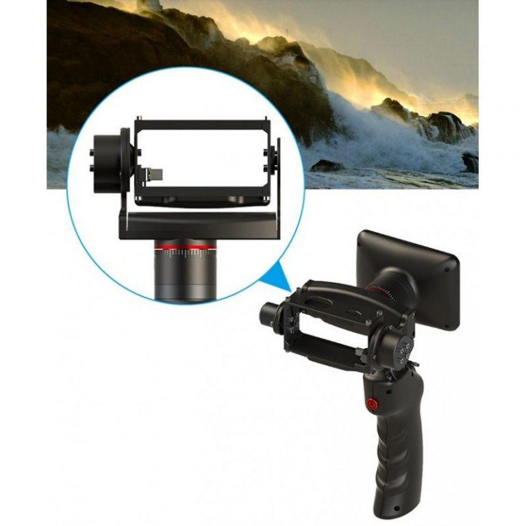 436 - Стабилизатор-стедикам Wenpod GP1 с экраном 3,5 дюйма для камеры GoPro Hero 3, 3+, 4