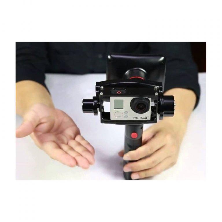 442 - Стабилизатор-стедикам Wenpod GP1 с экраном 3,5 дюйма для камеры GoPro Hero 3, 3+, 4