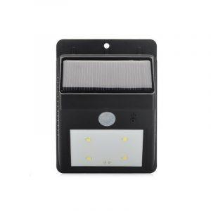 Светодиодный уличный фонарь с поликристаллической солнечной панелью и аккумулятором (ИК-датчик, ночной датчик, 80 люмен, IP64)