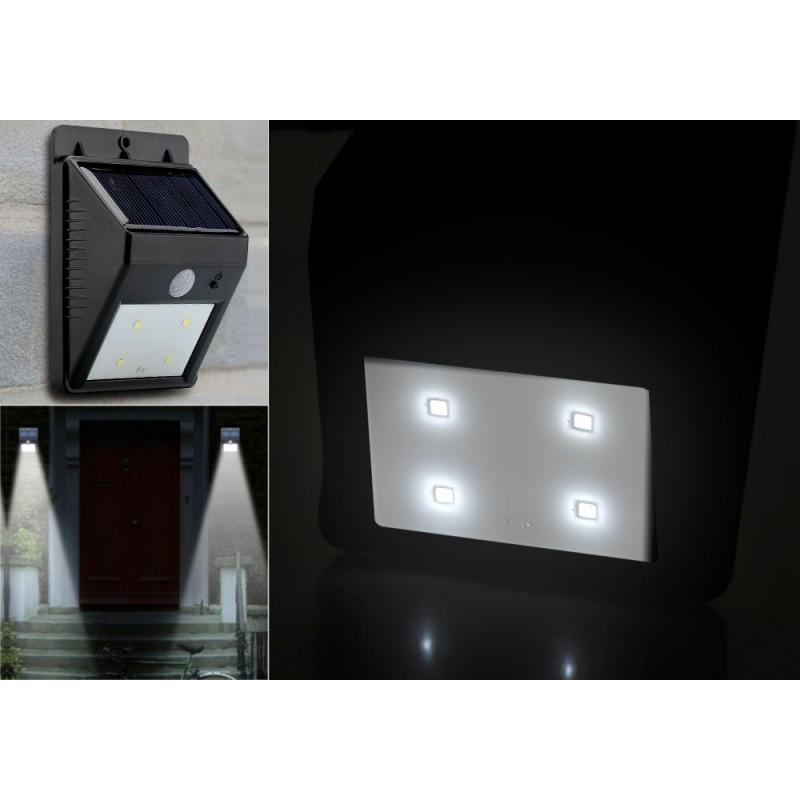 Светодиодный уличный фонарь с поликристаллической солнечной панелью и аккумулятором (ИК-датчик, ночной датчик, 80 люмен, IP64) 186689