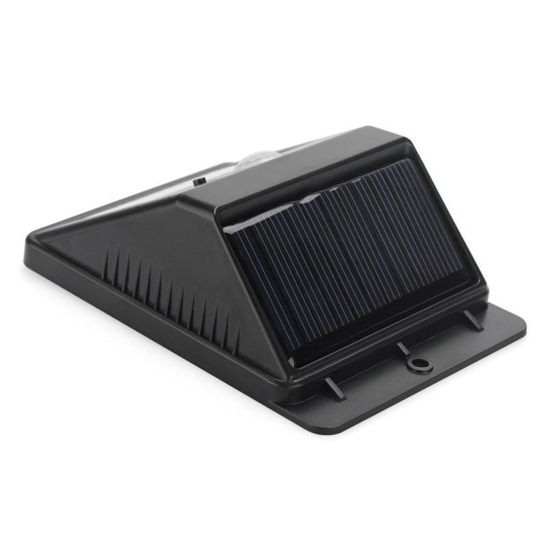 Светодиодный уличный фонарь с поликристаллической солнечной панелью и аккумулятором (ИК-датчик, ночной датчик, 80 люмен, IP64) 186690