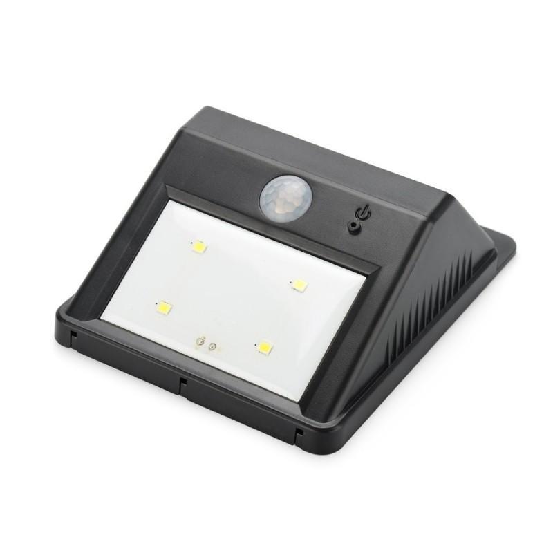 Светодиодный уличный фонарь с поликристаллической солнечной панелью и аккумулятором (ИК-датчик, ночной датчик, 80 люмен, IP64) 186691