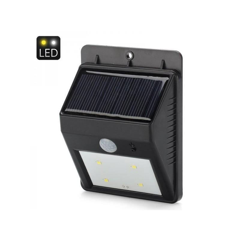 Светодиодный уличный фонарь с поликристаллической солнечной панелью и аккумулятором (ИК-датчик, ночной датчик, 80 люмен, IP64) 186693