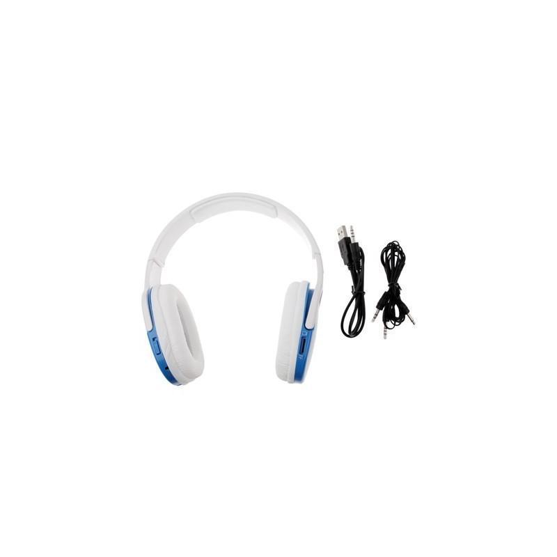 Беспроводные наушники-плеер Hi-fi Digital Stereo с микрофоном и FM-радио (mp3, Micro SD Card, поддержка устройств 3.5 мм, USB) 186938
