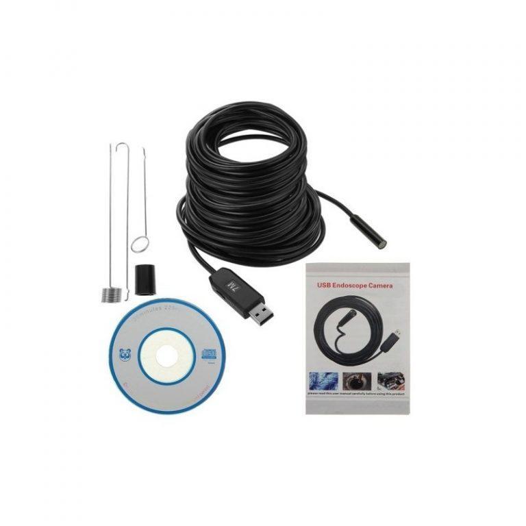 4771 - Профессиональный водонепроницаемый ручной USB бороскоп - технический эндоскоп от 2 до 25 метров