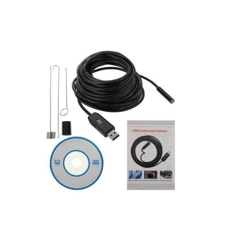 4776 - Профессиональный водонепроницаемый ручной USB бороскоп - технический эндоскоп от 2 до 25 метров