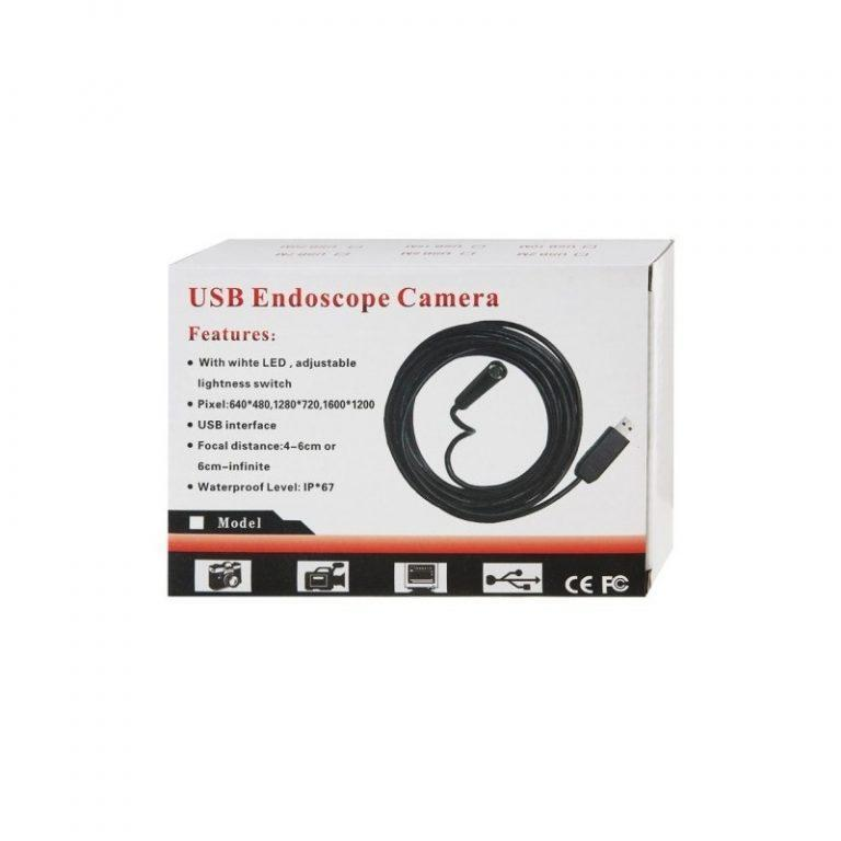 4777 - Профессиональный водонепроницаемый ручной USB бороскоп - технический эндоскоп от 2 до 25 метров