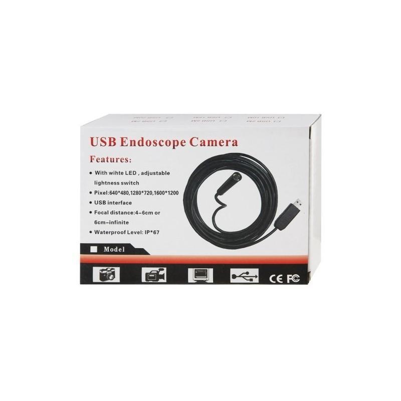 Профессиональный водонепроницаемый ручной USB бороскоп – технический эндоскоп от 2 до 25 метров 186960