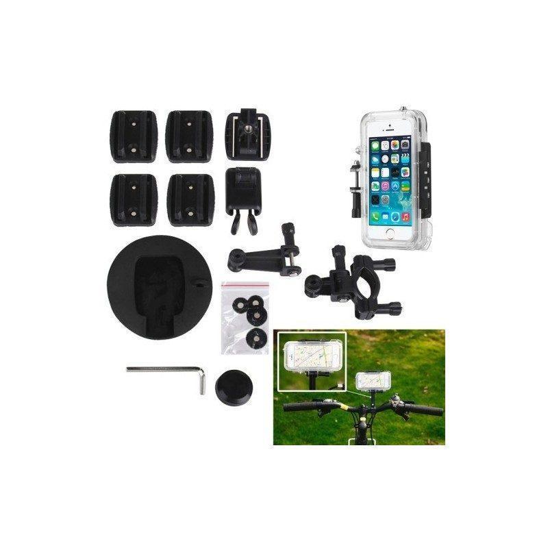 Комплект защитных и монтажных аксессуаров для iPhone 5 и 5S (для велосипеда, шлема)